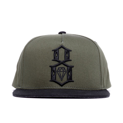 REBEL8 - 'Logo Army' [(Dark Green) Snap Back Hat]