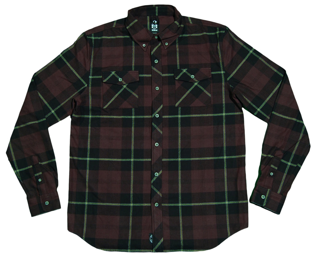 <!--2012090457-->REBEL8 - 'Junction' [(Dark Red) Button Down Shirt]