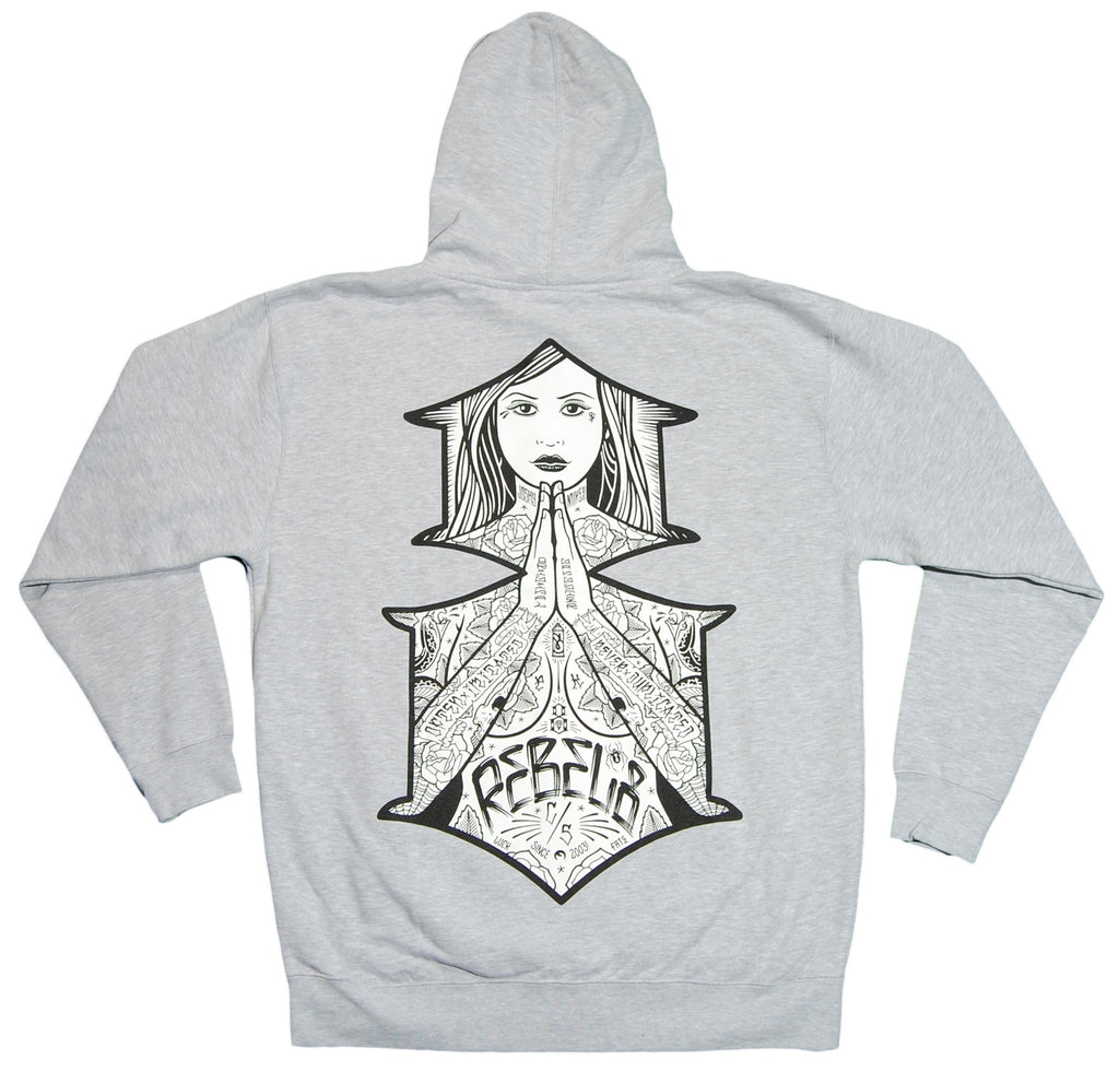 <!--2012090458-->REBEL8 - 'Blessed' [(Gray) Hooded Sweatshirt]