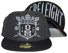 <!--2012090405-->REBEL8 - 'H.W.T.C.' [(Dark Gray) Fitted Hat]