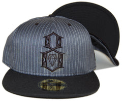 <!--2012090409-->REBEL8 - 'Gangster' [(Dark Gray) Fitted Hat]