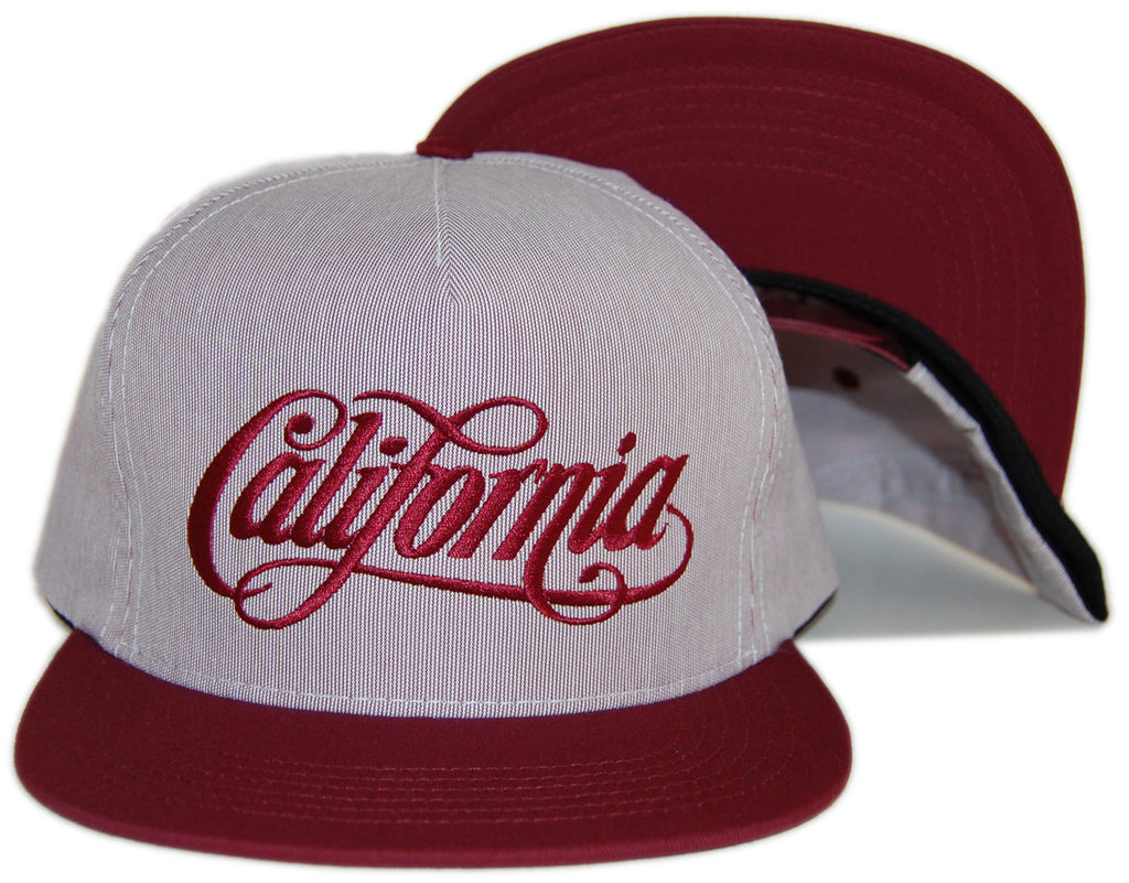 <!--020120904048533-->REBEL8 - 'California' [(Light Red) Snap Back Hat]