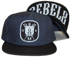 REBEL8 - 'H.W.T.C. - Denim' [(Dark Blue) Snap Back Hat]