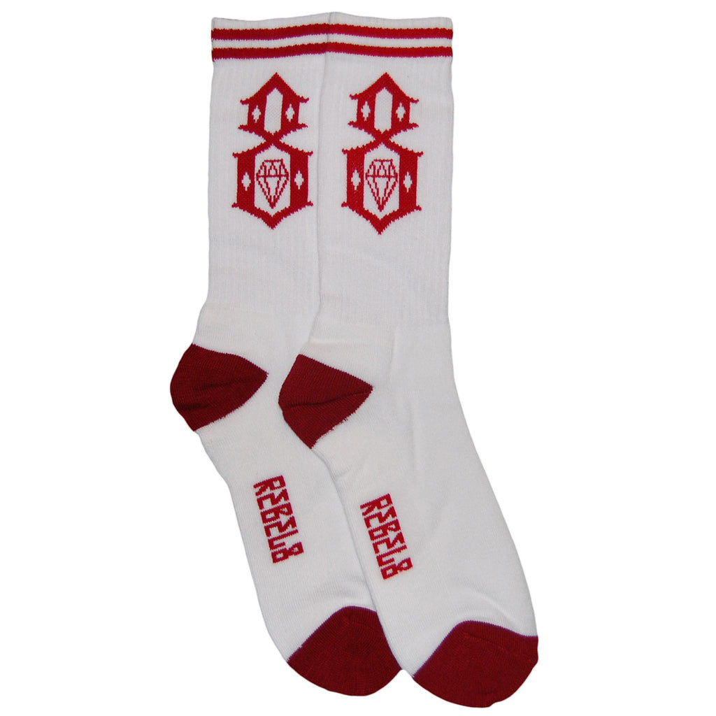 <!--020120904048563-->REBEL8 - 'Standard Issue' [(White) Socks]