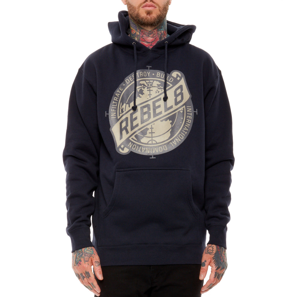 <!--2014092319-->REBEL8 - 'Sights Set' [(Dark Blue) Hooded Sweatshirt]