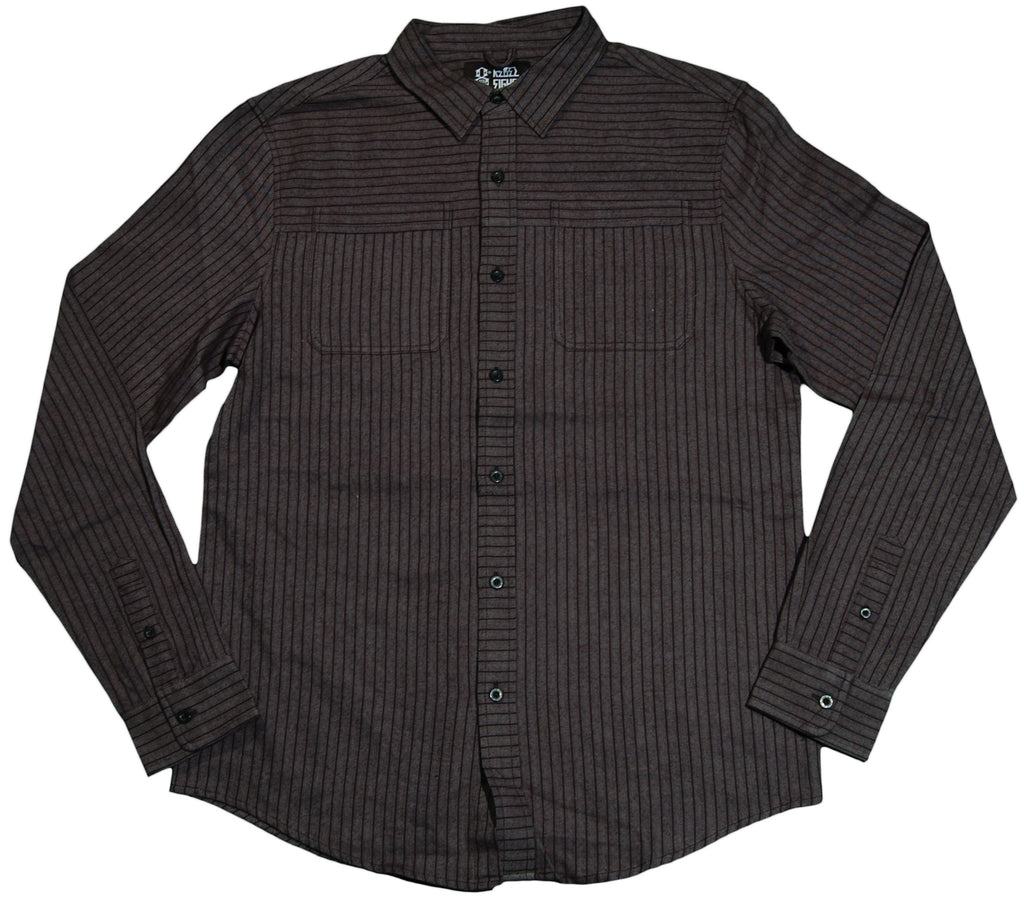 <!--2011083036-->REBEL8 - 'Folsom Work' [(Dark Gray) Button Down Shirt]