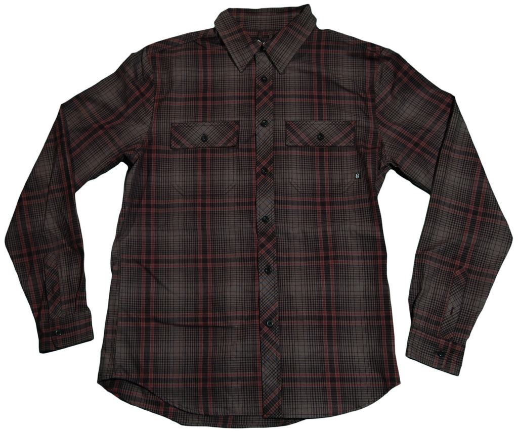 <!--2011083009-->REBEL8 - 'Lithium Flannel' [(Dark Gray) Button Down Shirt]