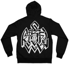 <!--2011083035-->REBEL8 - 'Lock Down' [(Black) Hooded Sweatshirt]