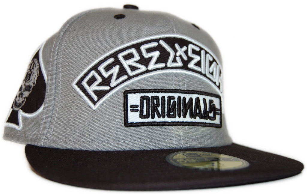 <!--2011083018-->REBEL8 - 'Rebel Eight Originals' [(Gray) Fitted Hat]