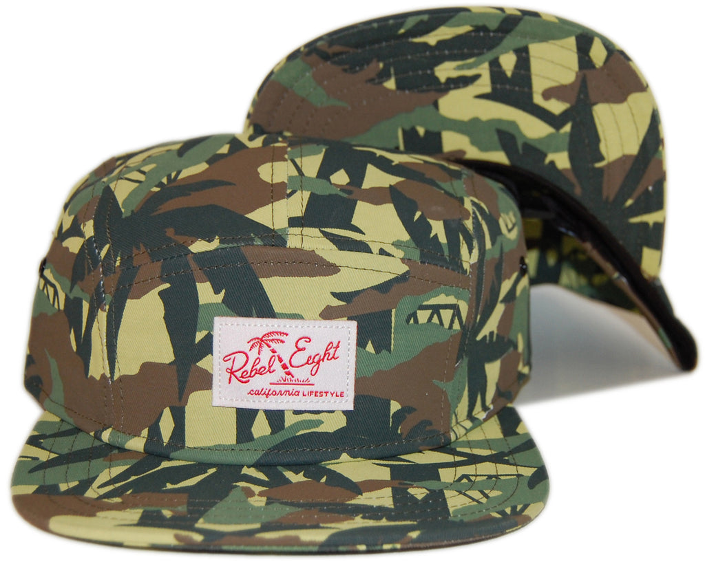 <!--020130611057272-->REBEL8 - 'Jungle Camo' [(Camo Pattern) Five Panel Camper Hat]