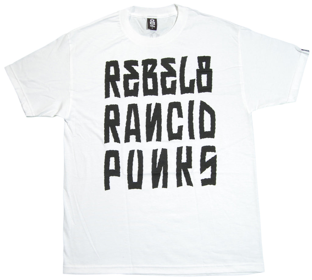 <!--2012072447-->REBEL8 x Rancid - 'Listed' [(White) T-Shirt]
