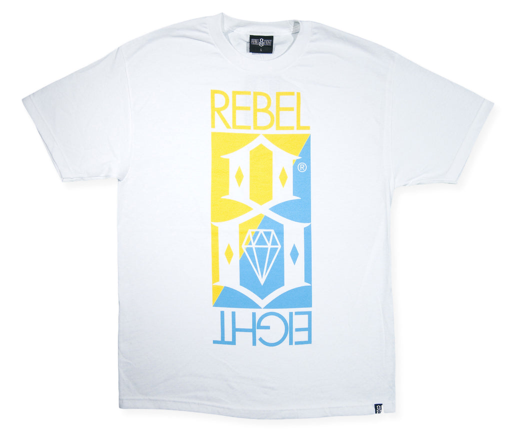 <!--2014052140-->REBEL8 - 'Flipped' [(White) T-Shirt]