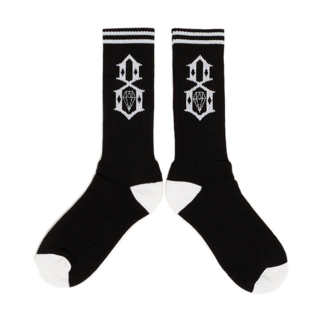 <!--020140521063793-->REBEL8 - '8 Logo' [(Black) Socks]