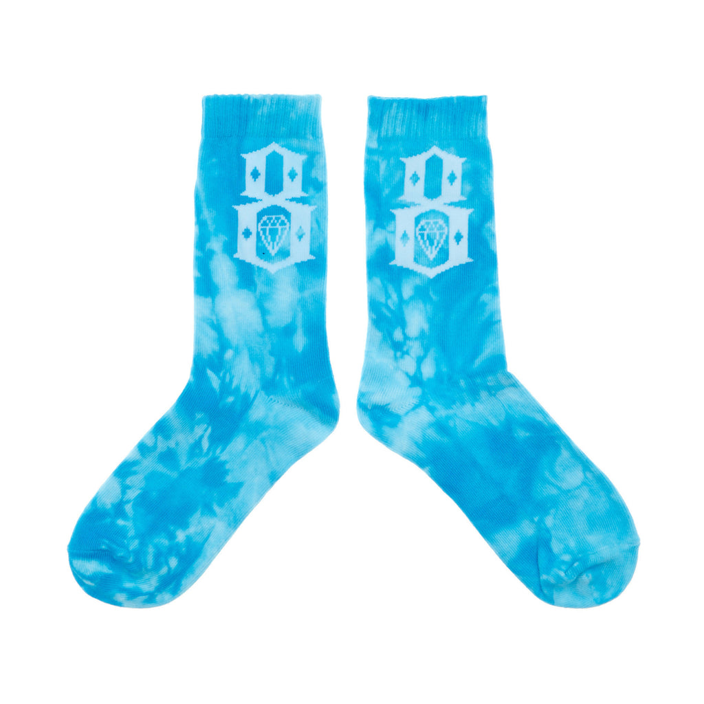 <!--020140521063790-->REBEL8 - 'Tie-Dye' [(Light Blue) Socks]