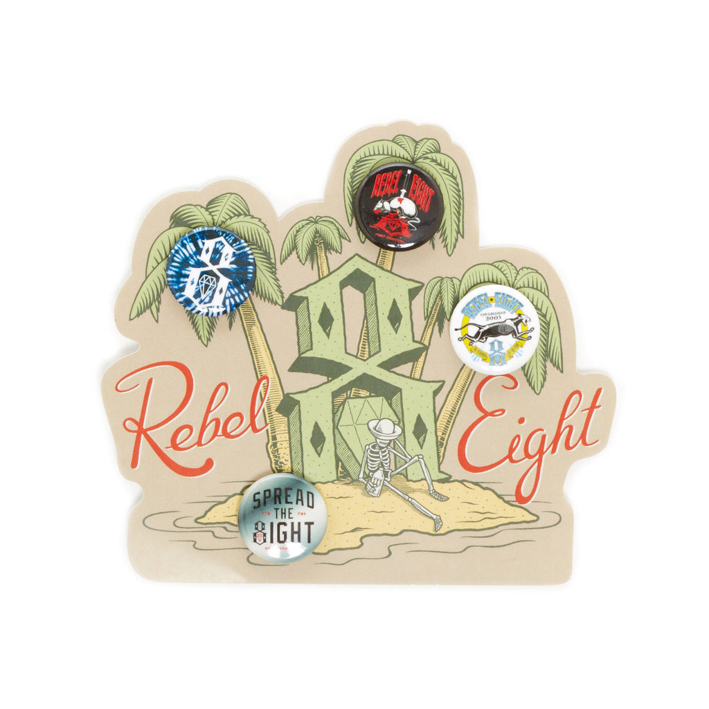 <!--020140521063794-->REBEL8 - 'Summer Button Pack (X 4) - Random Assortment' [Pin]