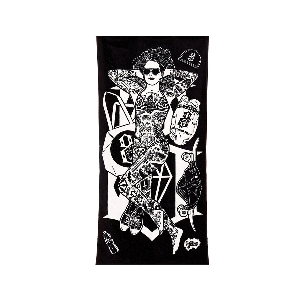 <!--020140521063789-->REBEL8 - 'Life's A Beach' [(Black) Beach Towel]