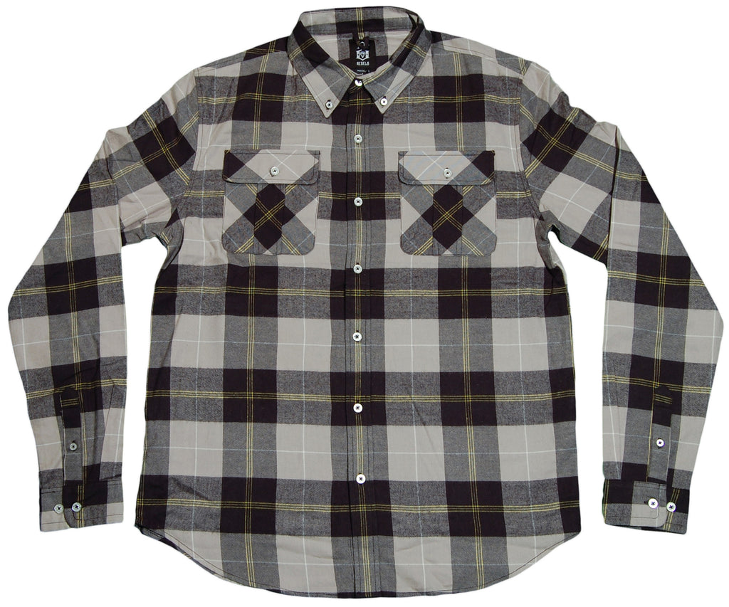 <!--2012022854-->REBEL8 - 'County Flannel' [(Gray) Button Down Shirt]