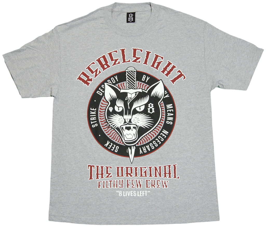 <!--2012022800-->REBEL8 - '8 Lives Left' [(Gray) T-Shirt]