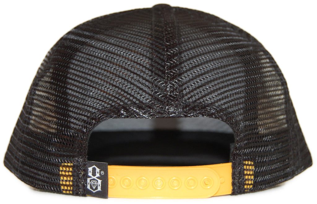<!--020120228041828-->REBEL8 - 'On Blast Gold Mesh' [(Black) Snap Back Hat]