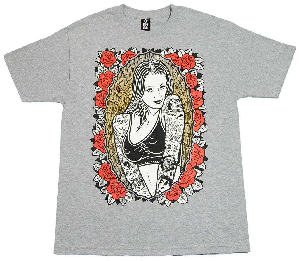 <!--2012052252-->REBEL8 - 'Skater Girl' [(Gray) T-Shirt]