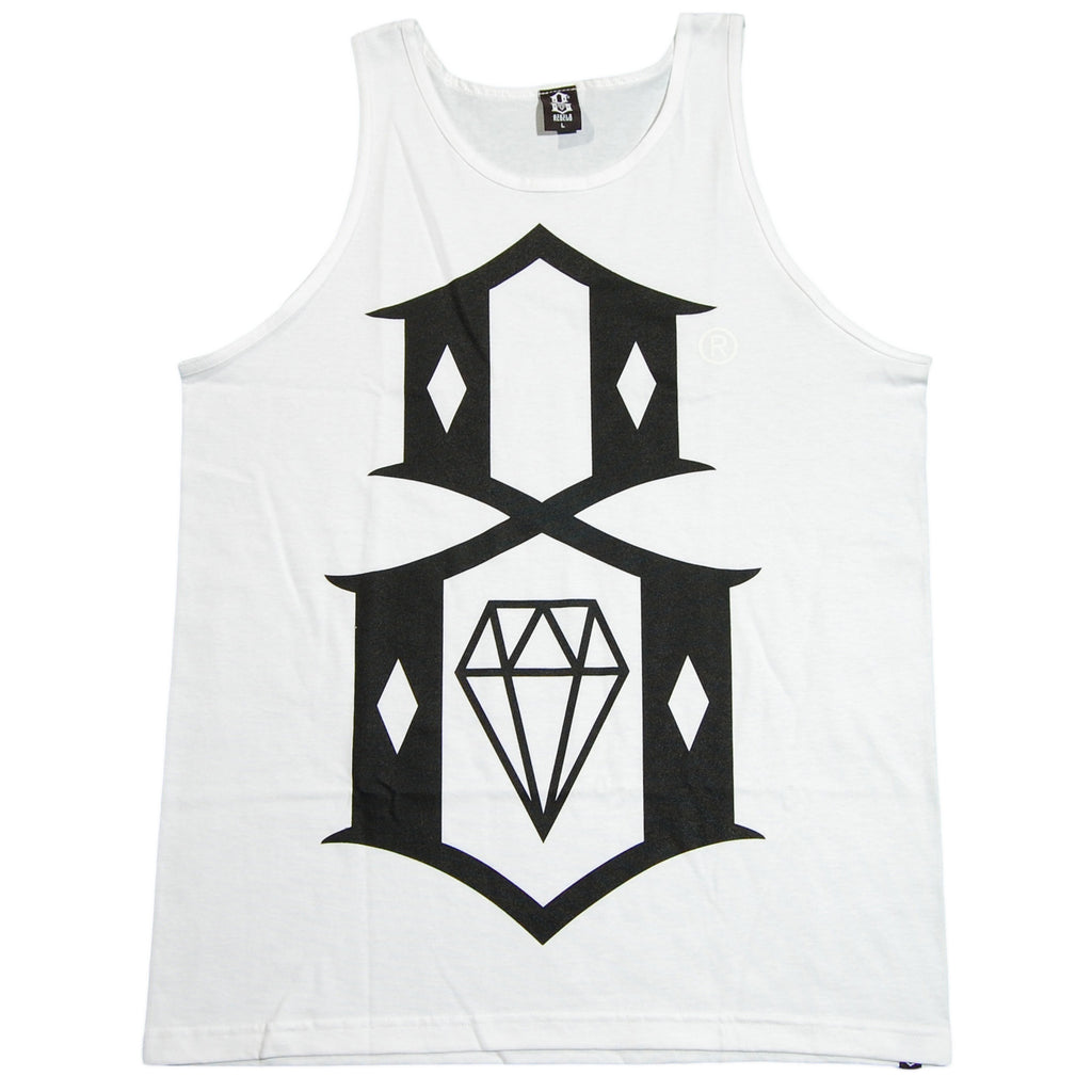 <!--2012052209-->REBEL8 - 'R8 Logo' [(White) Tank Top]