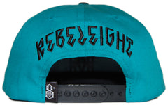 <!--020120522045014-->REBEL8 - 'Turquoise Logo' [(Light Green) Snap Back Hat]