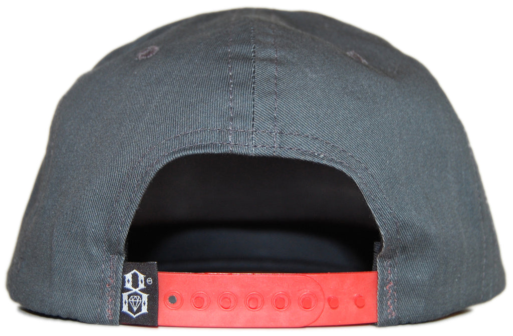 <!--020120522045018-->REBEL8 - 'No Shame - Gray' [(Dark Gray) Snap Back Hat]