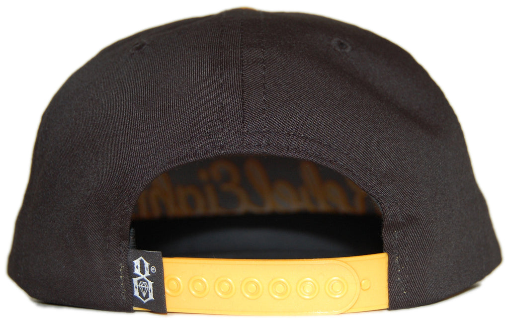 <!--020120522045017-->REBEL8 - 'Originals Since - Gold' [(Black) Snap Back Hat]