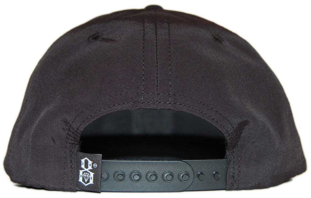 REBEL8 - 'R8 Logo - Taslin' [(Black) Snap Back Hat]