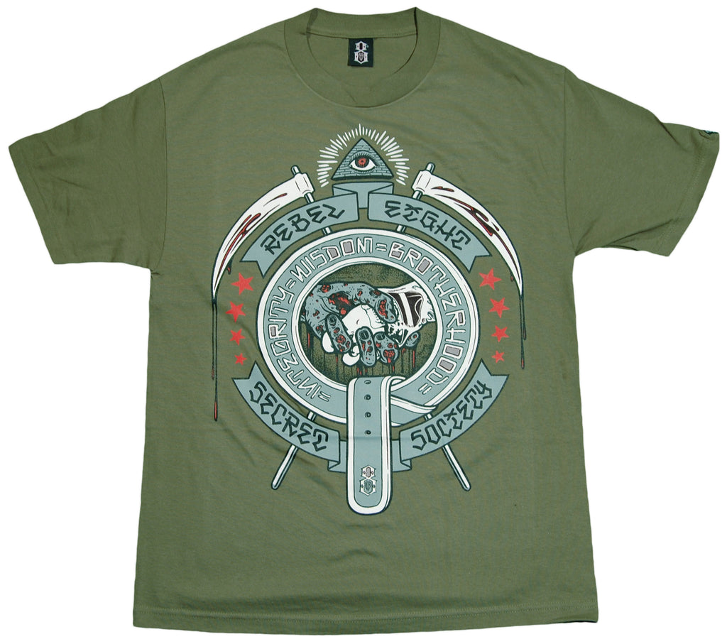<!--2011112251-->REBEL8 - 'Secret Society' [(Dark Green) T-Shirt]