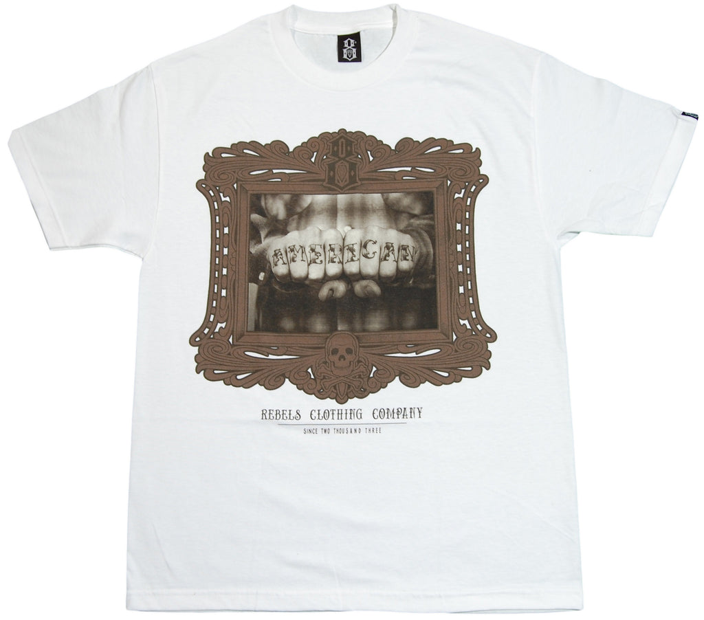 <!--2011112207-->REBEL8 - 'American' [(White) T-Shirt]