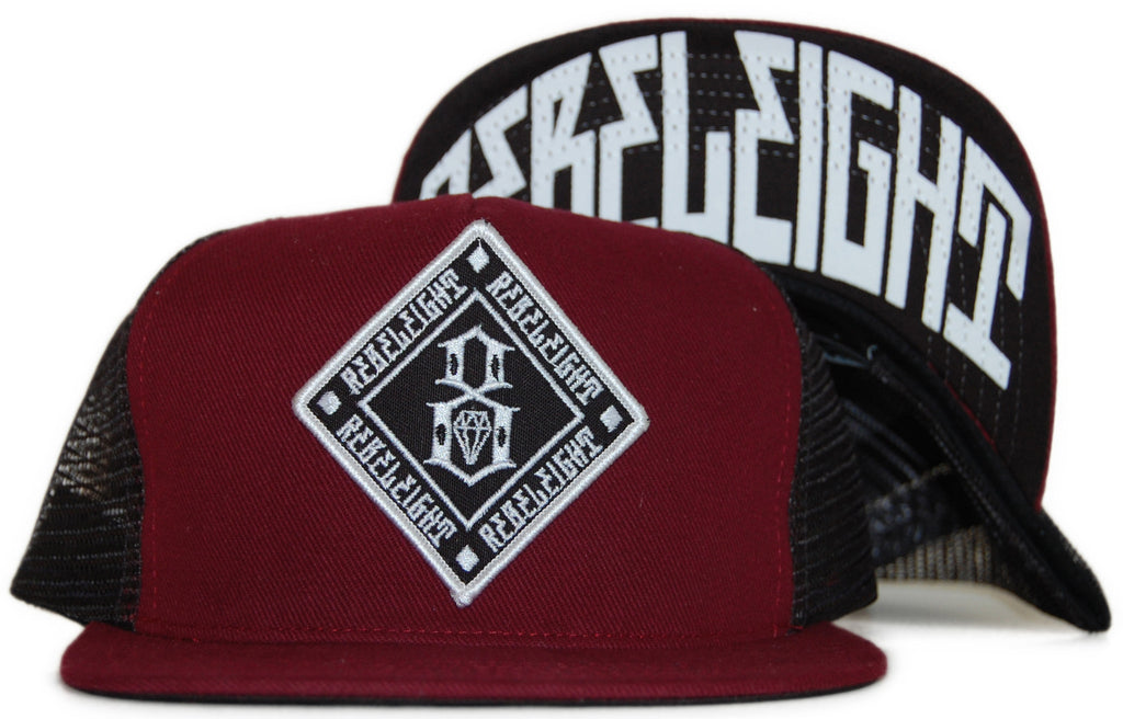 <!--020111122038382-->REBEL8 - 'Outfield Mesh' [(Dark Red) Snap Back Hat]