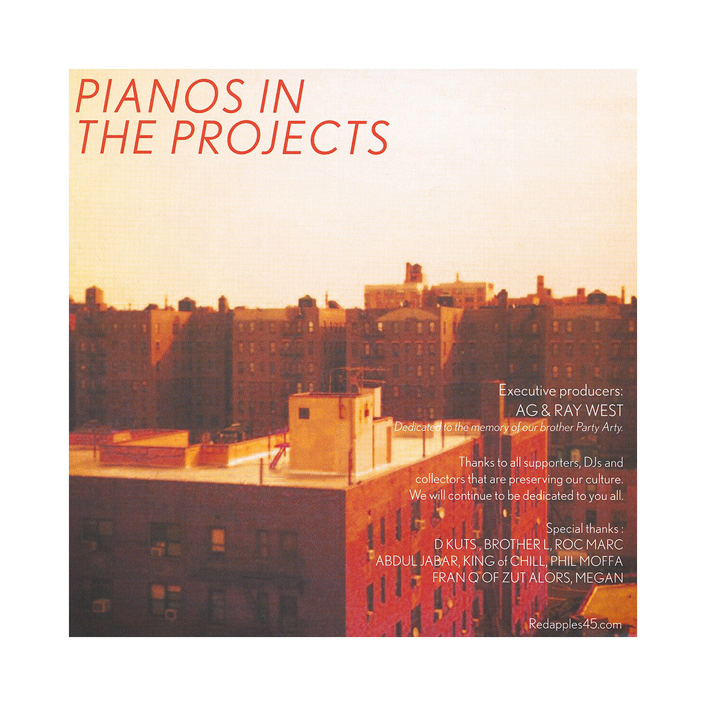 "A.G. & Ray West - 'Pianos In The Projects EP' [(Black) 7"" Vinyl Single]"
