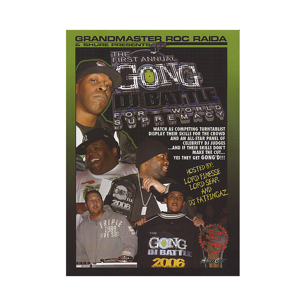 <!--020070306008998-->Roc Raida & Shure - 'The Gong DJ Battle For World Supremecy - New York, 2006' [DVD]