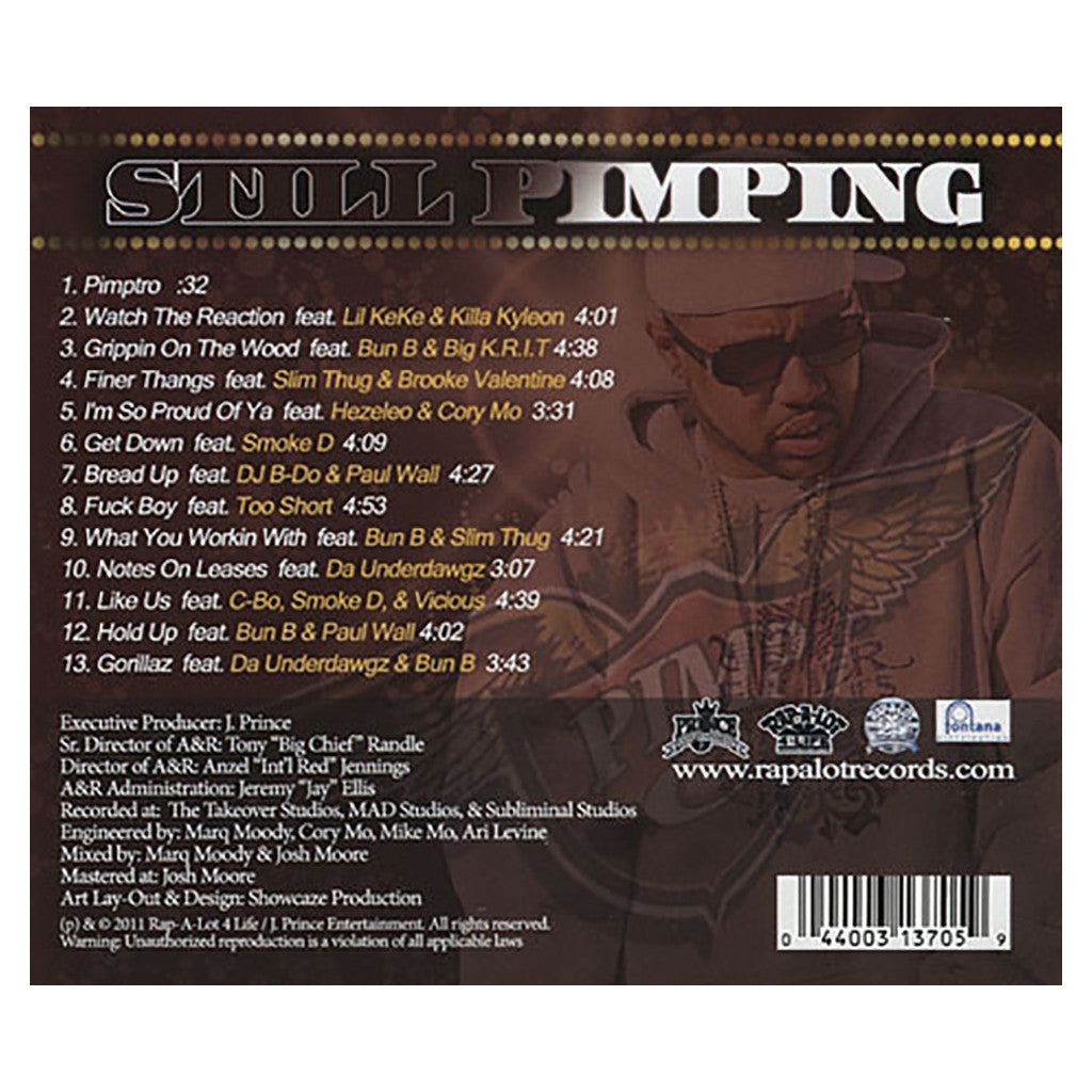 Pimp C - 'Still Pimping' [CD]