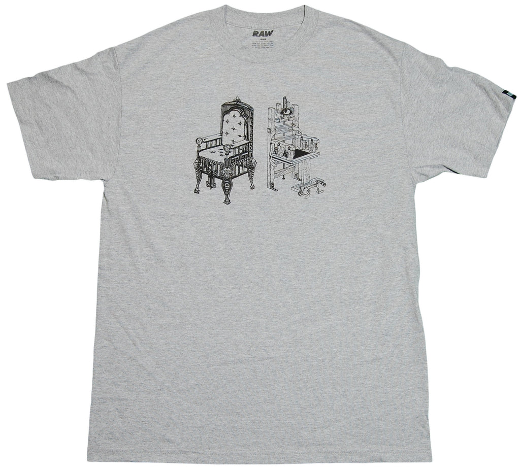 <!--2011112254-->RAW x Charlie Crowell - 'A Man Gets What He Deserves' [(Gray) T-Shirt]