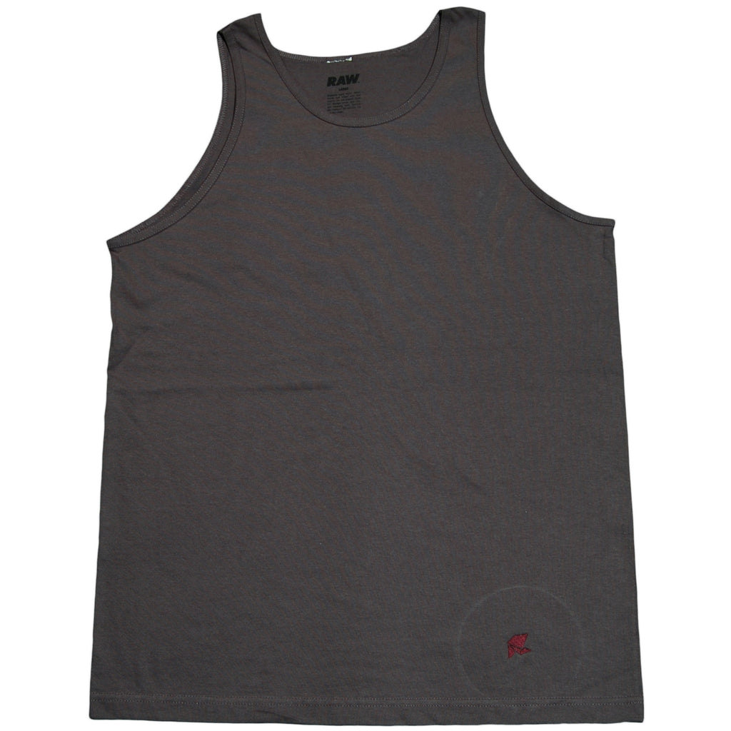 <!--2011083007-->RAW x Grandison Taber - 'Grandison Taber Logo - Deep Purple' [(Dark Gray) Tank Top]