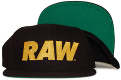 <!--020111122038478-->RAW - 'Yellow Logo' [(Black) Snap Back Hat]