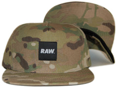 <!--020120612045974-->RAW - 'Logo - Desert' [(Camo Pattern) Snap Back Hat]