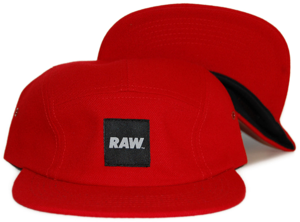 RAW - 'Logo' [(Red) Five Panel Camper Hat]