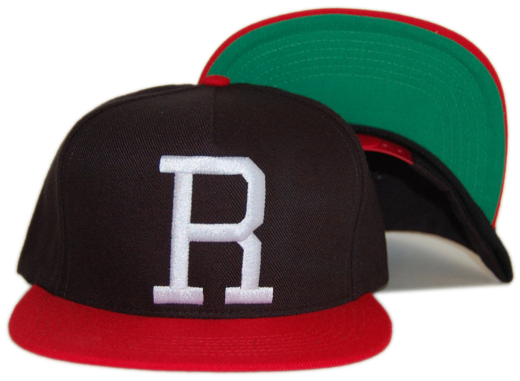 <!--020120612045970-->RAW - 'Varsity R' [(Black) Snap Back Hat]