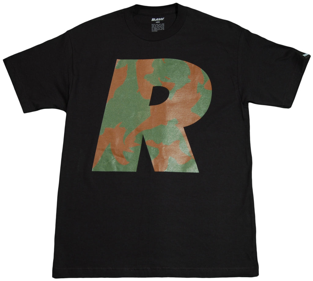 RAW - 'Big R Camo' [(Black) T-Shirt]