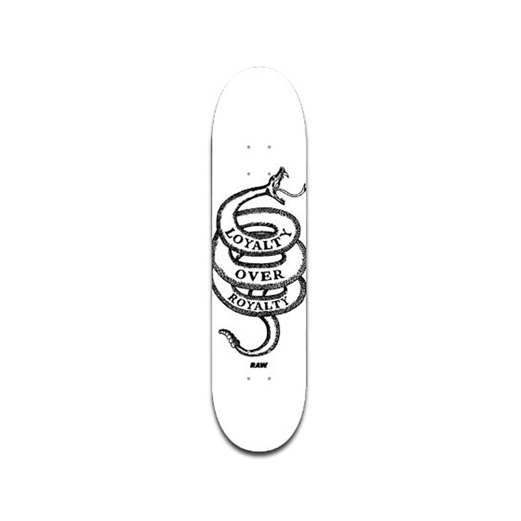 <!--020100309020317-->RAW - 'Loyalty Over Royalty' [(White) Skateboard Deck]