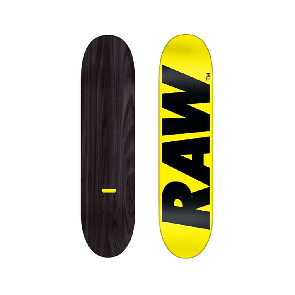 <!--020101228026494-->RAW - 'Logo' [(Yellow) Skateboard Deck]