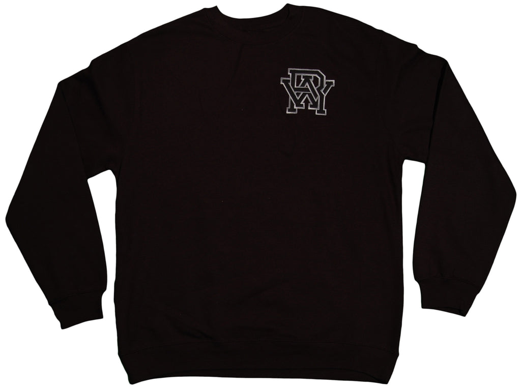 RAW x Jonah Miller - 'Varsity Cipher' [(Black) Crewneck Sweatshirt]