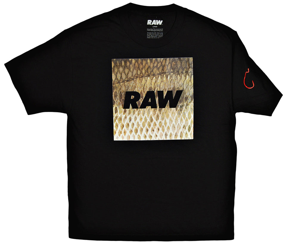 <!--2013102208-->RAW - 'Fishscale Box Logo' [(Black) T-Shirt]