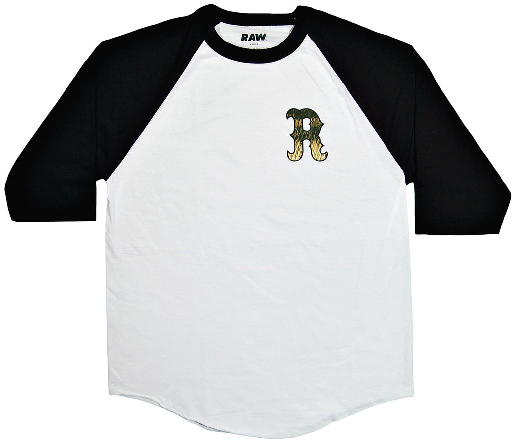<!--2013102204-->RAW - 'Fishscale HFA Baseball' [(White) T-Shirt]