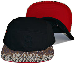 <!--020131022060491-->RAW - 'Fishscale Varsity R' [(Black) Five Panel Camper Hat]