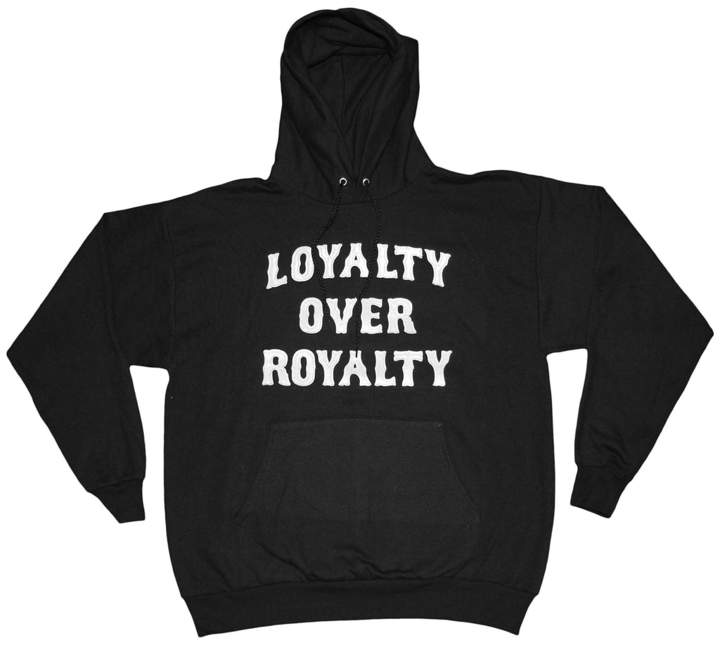 <!--2013090310-->RAW - 'Loyalty Over Royalty' [(Black) Hooded Sweatshirt]