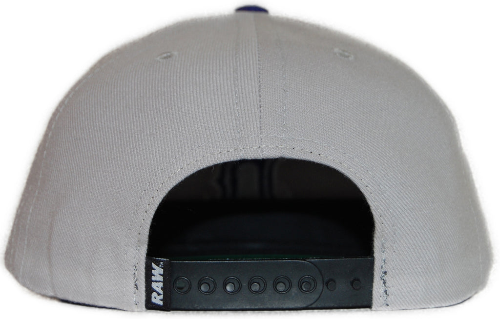 <!--020110927036083-->RAW - 'Home Field Advantage - Blue' [(Light Gray) Snap Back Hat]